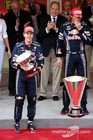 Podium: Sebastian Vettel, Red Bull Racing, Mark Webber, Red Bull Racing