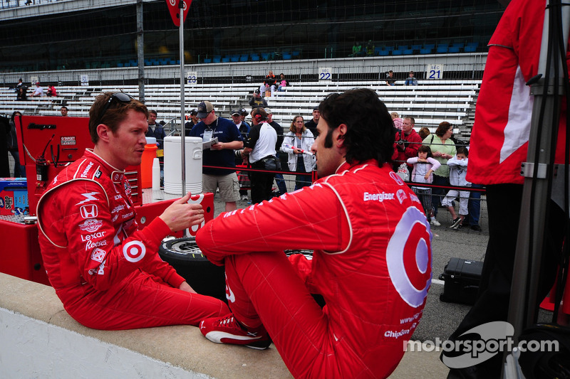 Scott Dixon, Target Chip Ganassi Racing and Dario Franchitti, Target Chip Ganassi