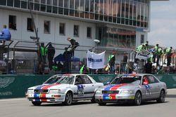 #78 Derichs Rennwagen Audi D11 V8: Keith Ahlers, Manfred Kubik, Erwin Derichs et #79 Derichs Rennwagen Audi D2 W12: Manfred Kubik, Keith Ahlers, Erwin Derichs, Hans Georg Dornhege after the finish line