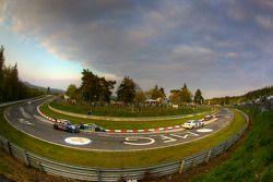 #98 Phoenix Racing Audi R8 LMS: Mark Basseng, Mike Rockenfeller, Frank Stippler, Hans Stuck, #145 Al