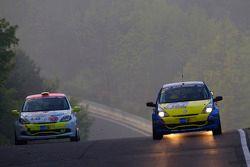 #166 Renault Clio Cup: Jürgen Peter, Rennsemmel, #183 Renault Clio III Cup: Jannik Olivo, Elmar Jurek, Traudl Klink