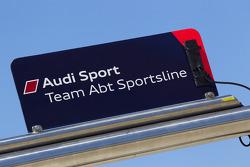 Panneau pour Timo Scheider, Audi Sport Team Abt et Oliver Jarvis, Audi Sport Team Abt