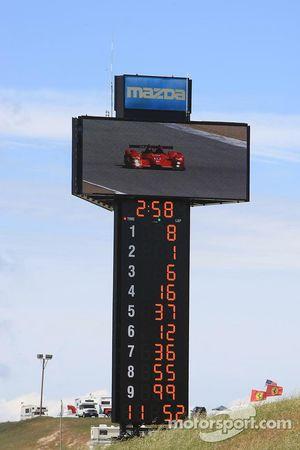 Nieuwe scorepyloon en videomonitor Mazda Raceway Laguna Seca