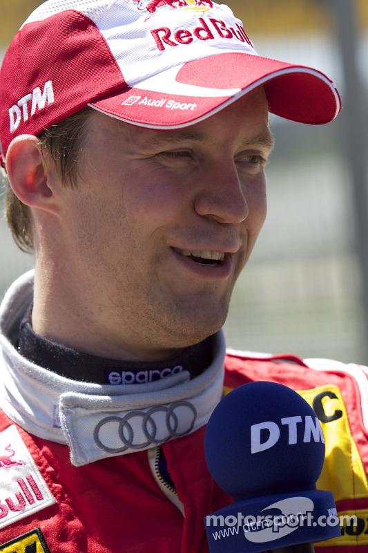 Polepositie Mattias Ekström, Audi Sport Team Abt interview