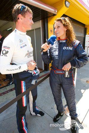 David Coulthard, Mücke Motorsport interviewé par Christina Surer