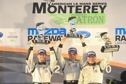Podium: Prototype Challenge vainqueurs #55 Level 5 Motorsports Oreca FLM09: Scott Tucker; Christophe Bouchut; Mark Wilkins