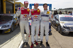 vainqueur Mattias Ekström, Audi Sport Team Abt, 2e Martin Tomczyk, Audi Sport Team Abt, 3e Bruno Sp