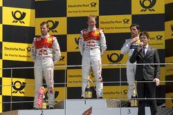 Podium: vainqueur Mattias Ekström, Audi Sport Team Abt, 2e Martin Tomczyk, Audi Sport Team Abt, 3e Bruno Spengler, Team HWA AMG Mercedes