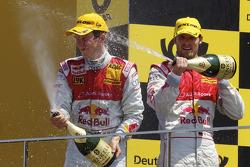 Podium: vainqueur Mattias Ekström, Audi Sport Team Abt, 2e Martin Tomczyk, Audi Sport Team Abt