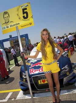 Grid girl pour Mattias Ekström, Audi Sport Team Abt