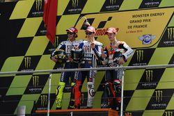 Podium: le vainqueur Jorge Lorenzo, Fiat Yamaha Team, deuxième place pour Valentino Rossi, Fiat Yamaha Team, troisième place pour Dani Pedrosa, Repsol Honda Team