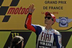 Podium: Le vainqueur Jorge Lorenzo, Fiat Yamaha Team célèbre la victoire