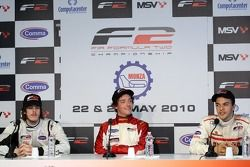 Race winner Jolyon Palmer, second place Sergey Afanasiev, third place Will Bratt