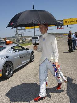 Pole man Mattias Ekström, Audi Sport Team Abt