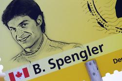 Grid board for Bruno Spengler, Team HWA AMG Mercedes
