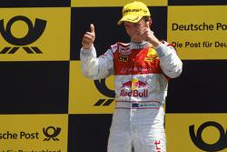 Podium: vainqueur Mattias Ekström, Audi Sport Team Abt fête son succès