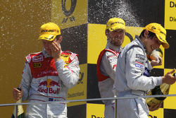Podium: vainqueur Mattias Ekström, Audi Sport Team Abt, 2e Martin Tomczyk, Audi Sport Team Abt, 3e