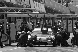 Passage aux stands pour Bruno Spengler, Team HWA AMG Mercedes C-Klasse