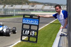 Pit board for Edoardo Mortara, Signature Dallara F308 Volkswagen