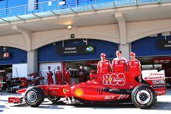 Fernando Alonso, Scuderia Ferrari with Stefano Domenicali Ferrari General Director and Felipe Massa,