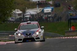 #134 Costa Ovest Motorsport Seat Leon: Sergio Negroni,Alexander Bolognesi, Mario Bertola, Umberto Na
