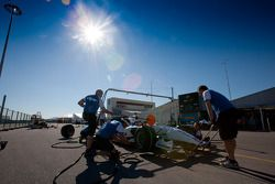 The DPR team practice pit stops