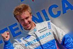 Davide Valsecchi celebrates his pole position