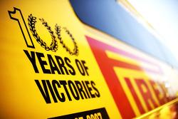 Pirelli 100 years of victory logo