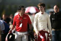 Mirko Bortolotti with the Ferrari young driver coach