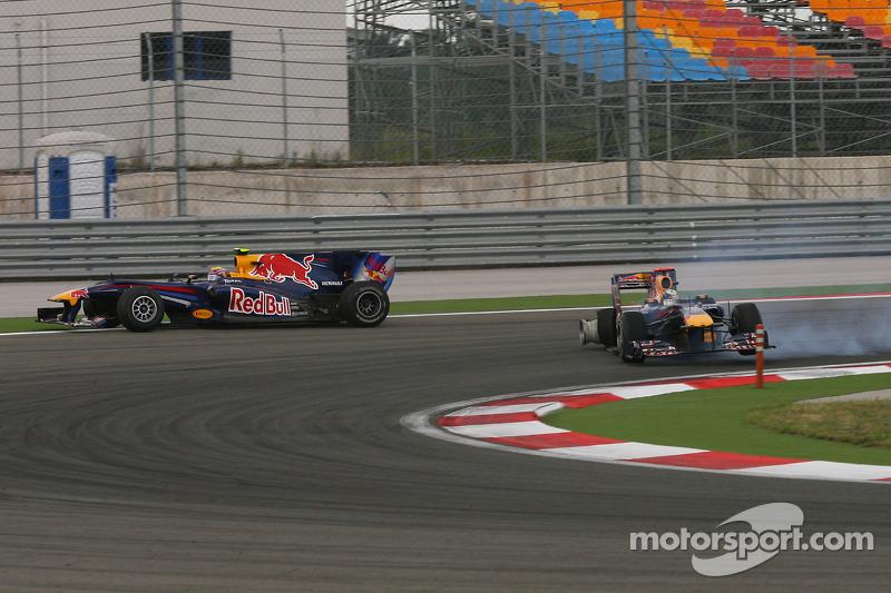 Mark Webber y Sebastian Vettel en Turquía 2010