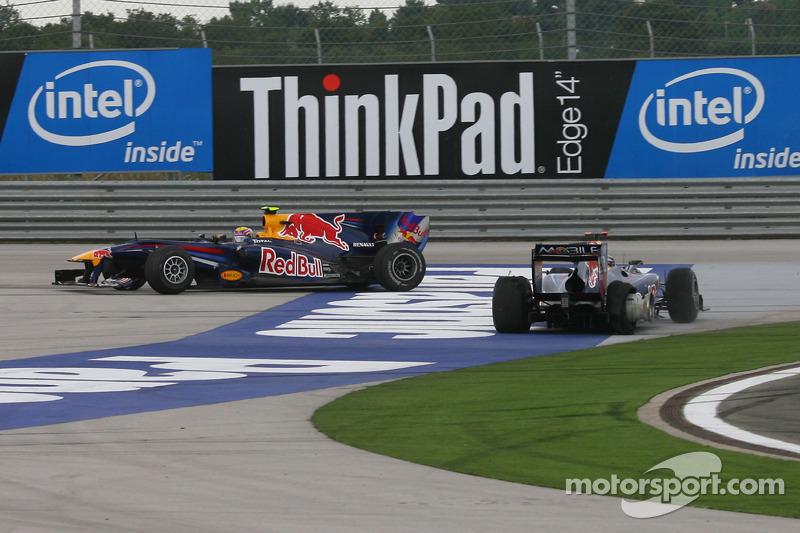 El choque entre Vettel y Webber en Turquía 2010