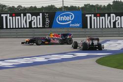 Choque de Mark Webber, Red Bull Racing y Sebastian Vettel, Red Bull Racing