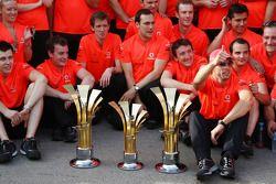 Mclaren team celebration, Jenson Button, McLaren Mercedes