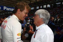 Sebastian Vettel, Red Bull Racing and Bernie Ecclestone