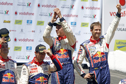 Podium: winners Sébastien Ogier and Julien Ingrassia, second place Sébastien Loeb and Daniel Elena