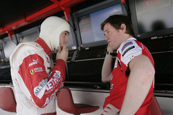 Jules Bianchi talks with Rob Smedley Ferrari before the start of the race