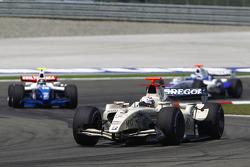 Giedo Van der Garde leads Davide Valsecchi and Michael Herck