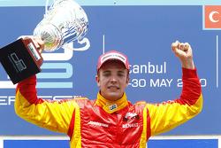 Dani Clos celebrates his victory on the podium