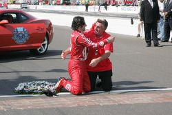 Dario Franchitti, Target Chip Ganassi Racing with his father George Franchitti