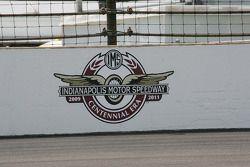 Centennial Era logo on the south short chute wall