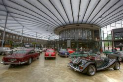 Vintage cars in the main hall