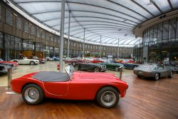 AC and other vintage cars in the main hall