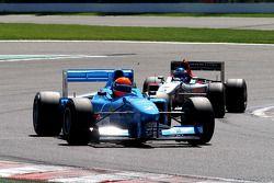#2 Marijn van Kalmthout, Benetton B197 F1 en #3 Klaas Zwart, Ascari Benetton B197 F1