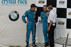 DP podium: derde plaats winnaars #6 Michael Shank Racing Ford Riley: Brian Frisselle, Michael Valian