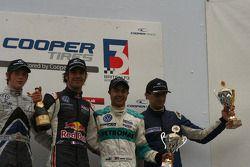 William Buller, Jean-Eric Vergne, Jazeman Jaafar and Menasheh Idafar