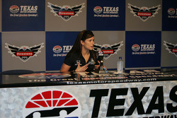 Danica Patrick, Andretti Autosport answers question from the media