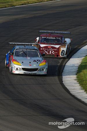 #40 Dempsey Racing Mazda RX-8: Charles Espenlaub, Joe Foster, Patrick Dempsey, #60 Michael Shank Rac