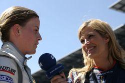 Susie Stoddart, Persson Motorsport, AMG Mercedes C-Klasse interviewed by Verona Wriedt, International DTM.TV