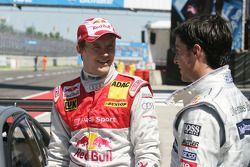 Mattias Ekström, Audi Sport Team Abt Audi A4 DTM and Mike Rockenfeller, Audi Sport Team Phoenix Aud