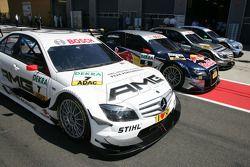 Pole position pour Paul di Resta, Team HWA AMG Mercedes C-Klasse, second Bruno Spengler, Team HWA AM